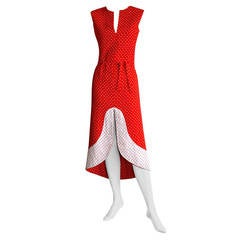 Pierre Cardin Space Age 1960s Vintage Mod Dress
