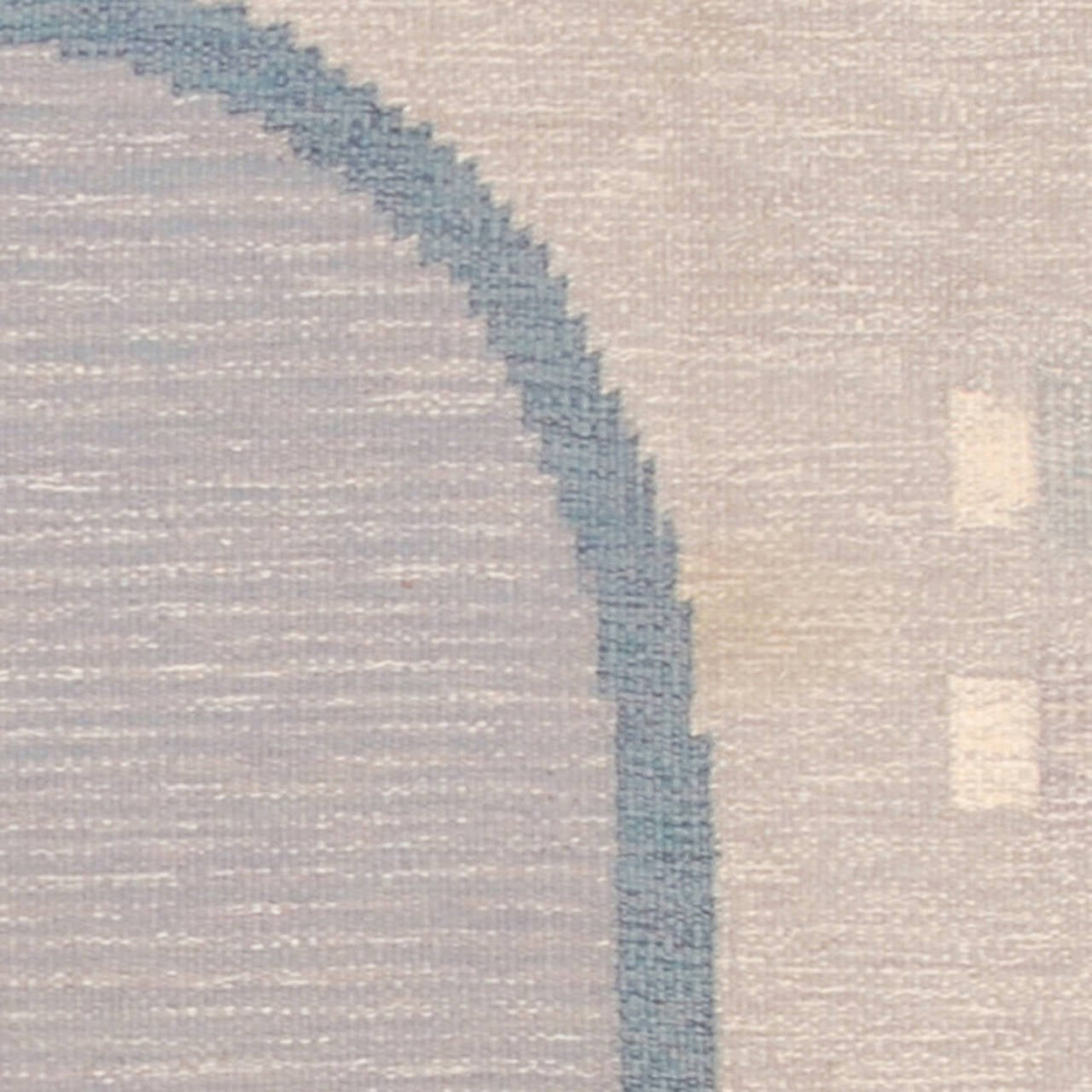 20th Century Swedish Flat-Weave Carpet by Ingegerd Silow In Excellent Condition For Sale In New York, NY