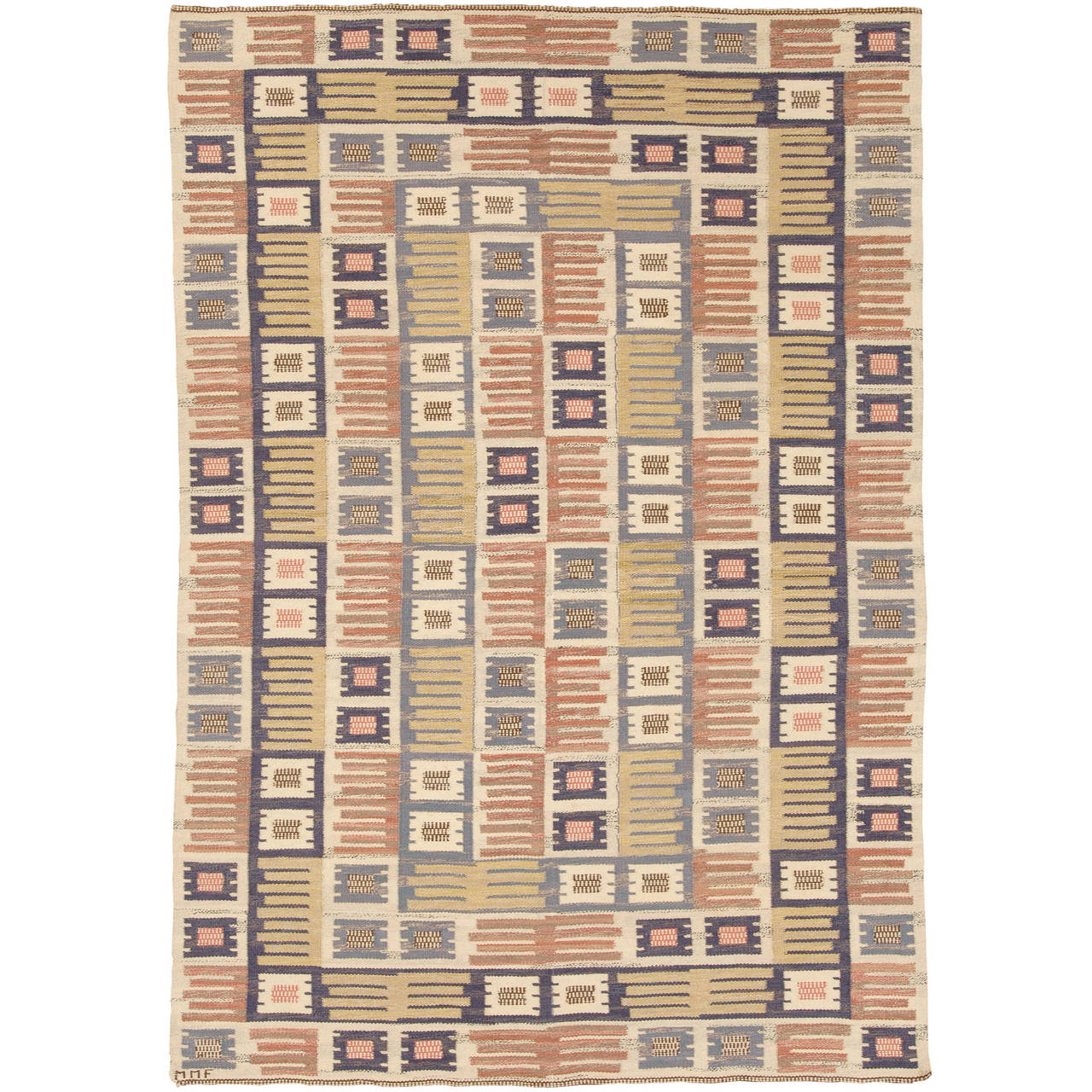 Marta Måås Fjetterström flat-weave carpet, ca. 1941, offered by FJ Hakimiam