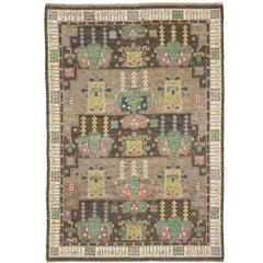 Mid 20th Century Swedish Pile Carpet by AB Märta Måås-Fjetterström
