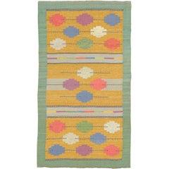 Mid-20th Century Swedish Flat Weave Carpet