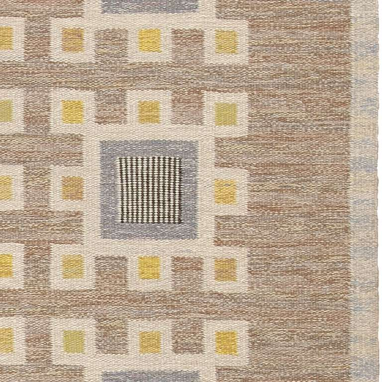 20th Century Vintage Swedish Flat-Weave Carpet For Sale
