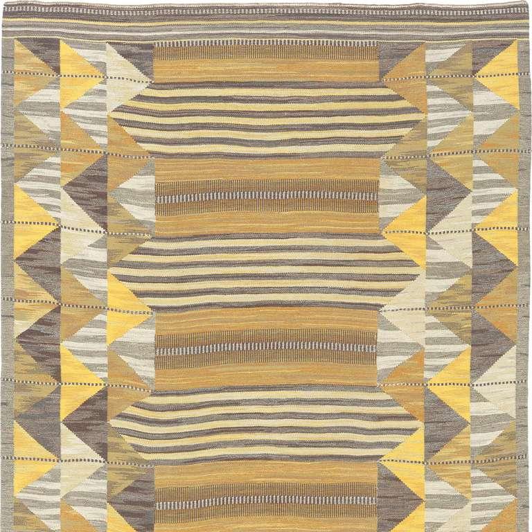 Flat-weave carpet, Sweden, mid-20th century.
