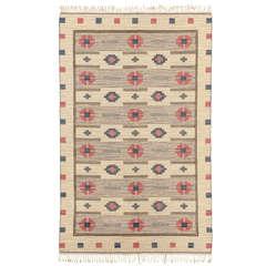 Vintage Swedish Flatweave Carpet