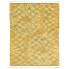 Vintage Swedish Rya Carpet, 'Magdalena, Gul'