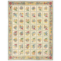 Early 20th Century French Needlepoint Rug