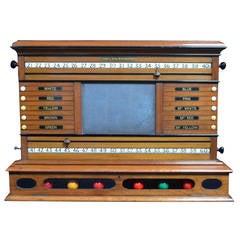 Antique Billiard -Snooker or Pool Scoreboard