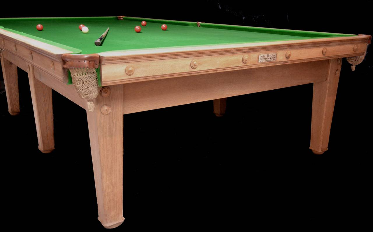Wool Voysey billiard snooker pool table arts and crafts aesthetic 1910 london england For Sale