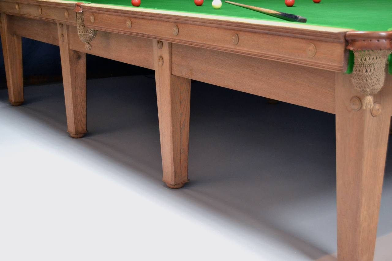 20th Century Voysey billiard snooker pool table arts and crafts aesthetic 1910 london england For Sale