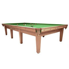 Voysey Billiard Snooker Pool Table Arts and Crafts circa 1910