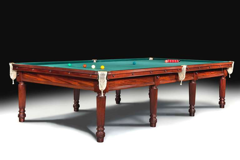 This superb quality mahogany full size English billiard or snooker table is the quintessence of Gillows  sc 1 st  1stDibs & Magnificent Gillows Antique Billiards Snooker or Pool Table at 1stdibs