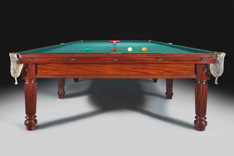 Magnificent Gillows Antique Billiards Snooker Or Pool Table At Stdibs - British pool table