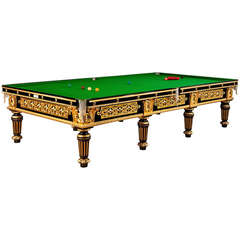 Gilded English Antique Billiard, Snooker or POOL Table
