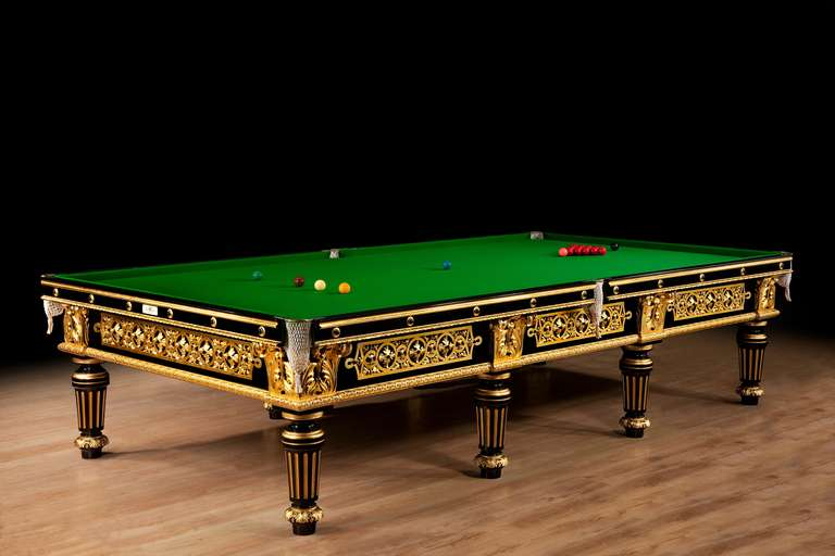 Billiard Snooker Pool Table Gilded Fabulous Gilded Example For Sale - Pool table side panels