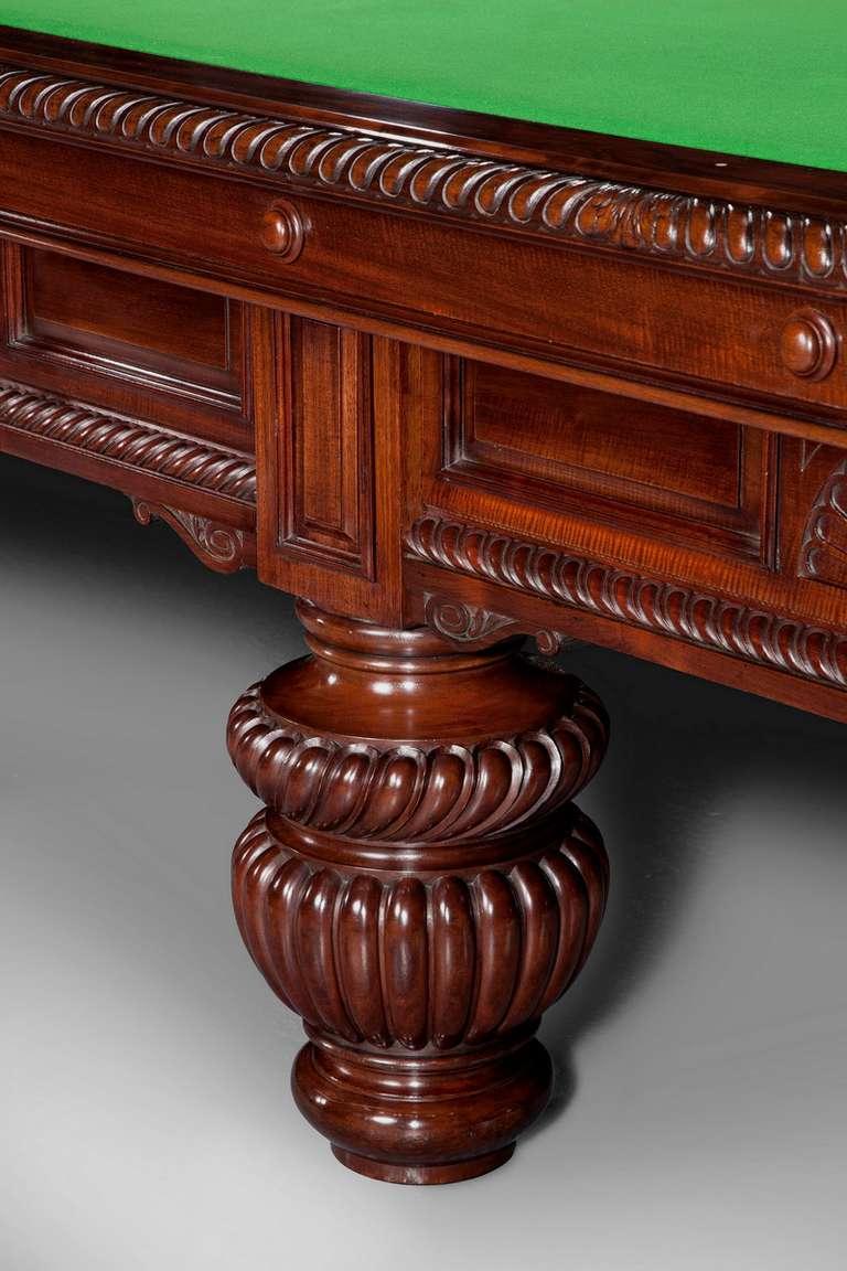 British Billiard snooker pool table victorian decorative mahogany london  england   For Sale