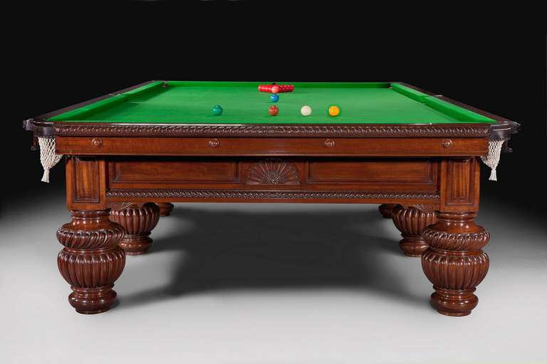Billiard Snooker Or Pool Table Decorative Carvings Circa