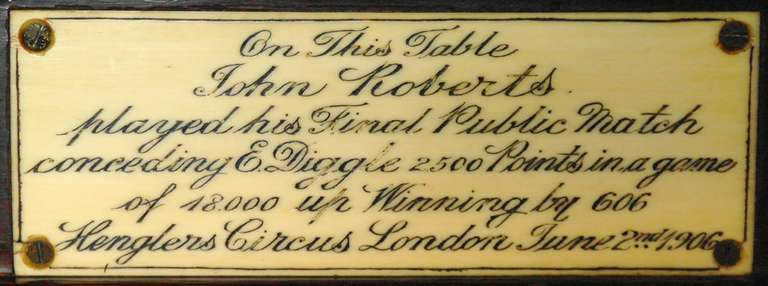 Billiard snooker pool table victorian decorative mahogany london  england   In Excellent Condition For Sale In Chilcompton, Radstock
