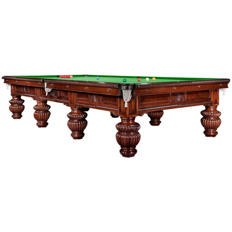 Billiard Snooker or Pool Table decorative carvings circa 1900