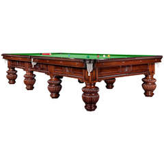 Billiard snooker pool table victorian decorative mahogany london  england