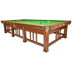 Arts & Crafts Billiard or Snooker Table Designed by Frank Brangwyn