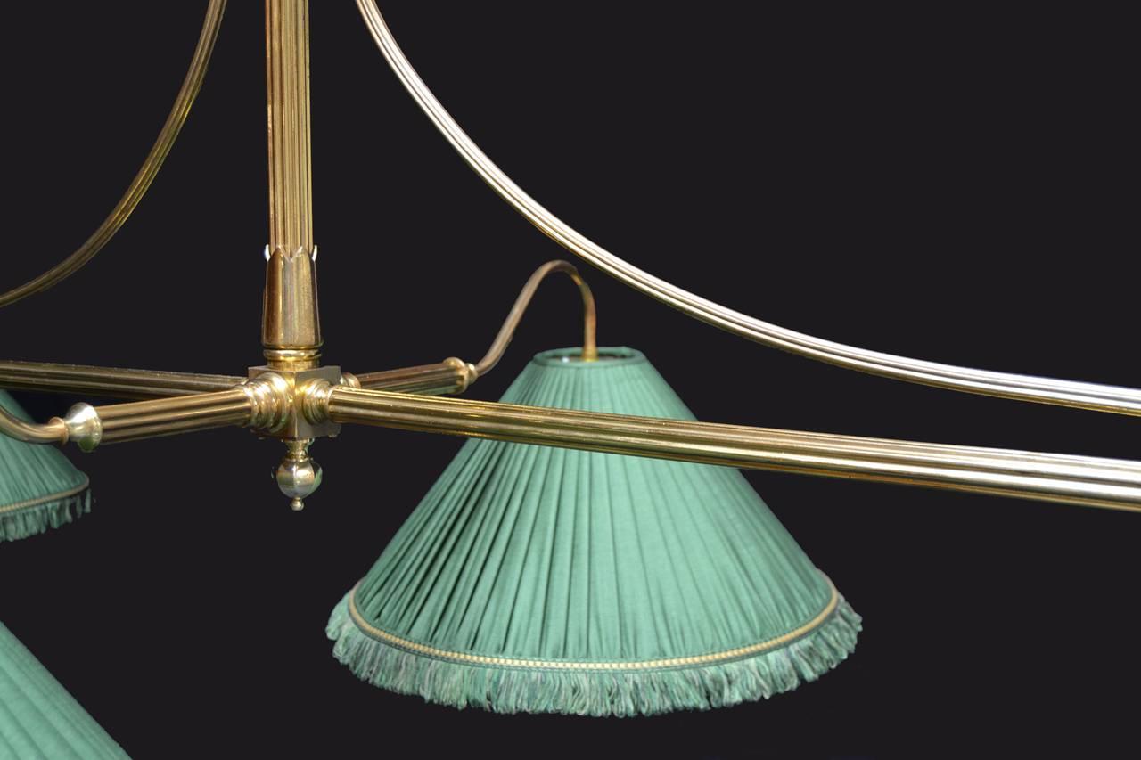 Brass framed antique billiard snooker pool table light - Pool table lights ...