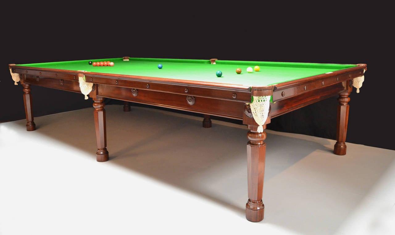 Regency Gillow's billiard snooker  pool table georgian mahogany english antique 1810  For Sale