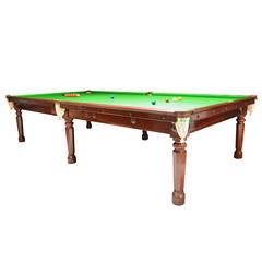Gillow's billiard snooker  pool table georgian mahogany english antique 1810