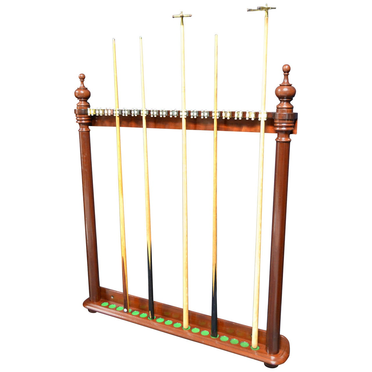 Wall Mounted Antique Billiard Snooker Or Pool Cue Rack At