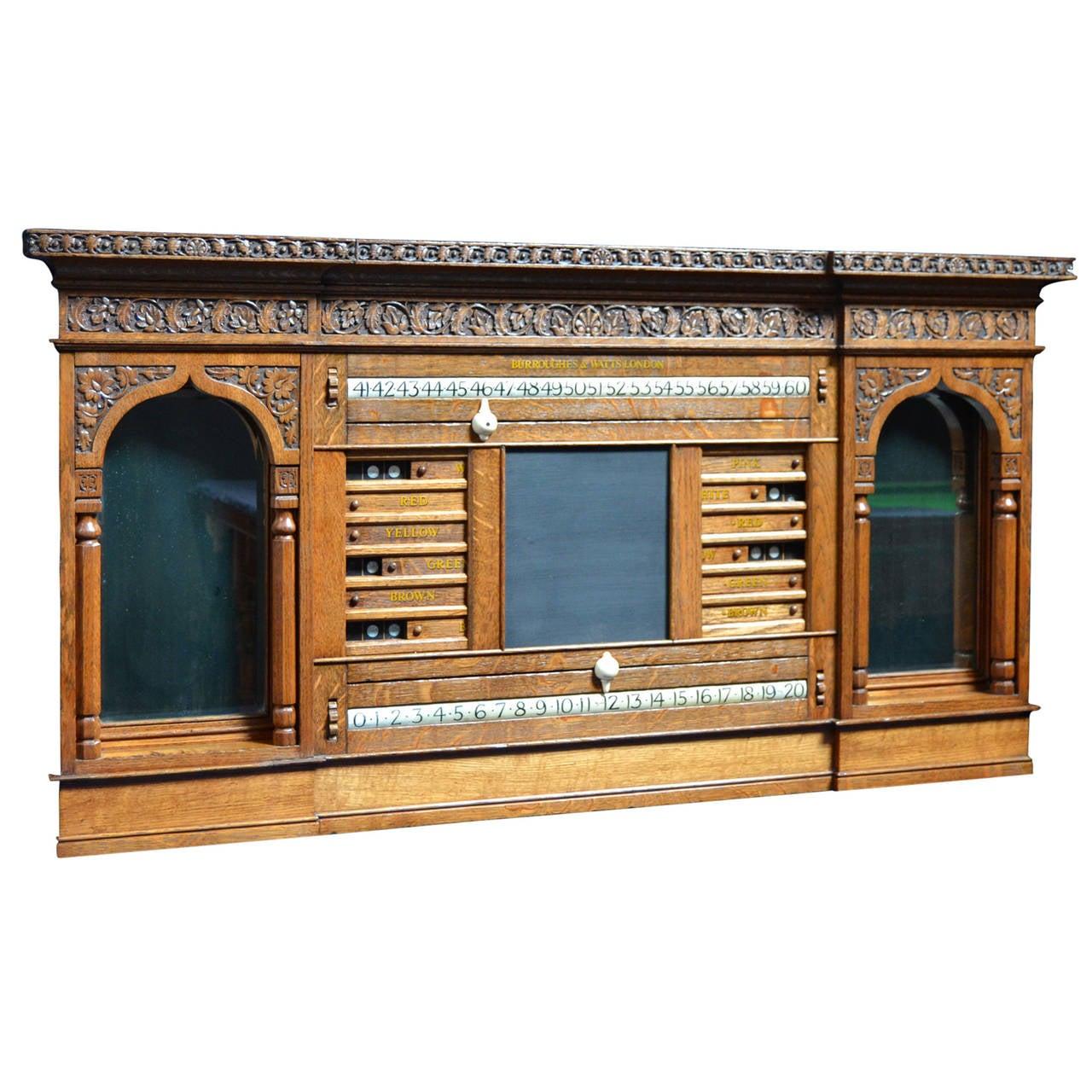 Decorative Billiard, Snooker, Pool Scoring Cabinet of Gothic Form