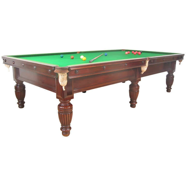 Victorian three quarter size english billiard table at 1stdibs for 1 4 size snooker table
