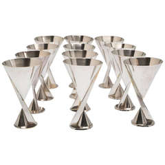 Set of 12 Cocktail Glasses by Desny