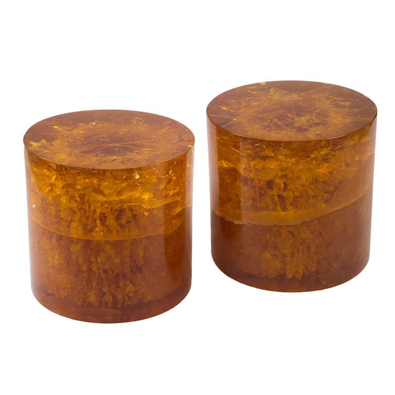 Pair Of Resin Coffee Tables At 1stdibs