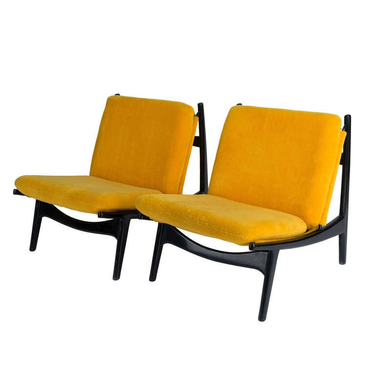 Pair of Armchairs by Joseph André Motte For Sale