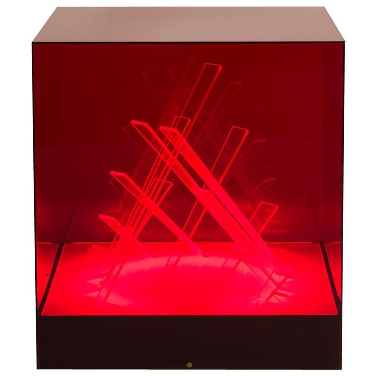 """Cubo di Teo"" Illuminated Sculpture by Riviere"
