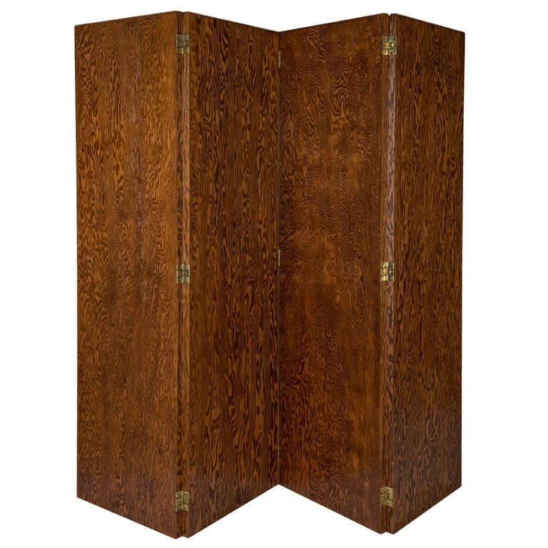 Screen Made of Oregon Pine by André Sornay