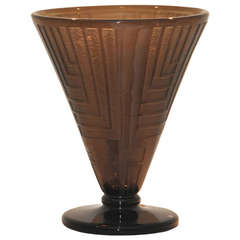 Art Deco Tinted Glass Vase by Daum