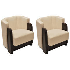 Pair of Art Deco Armchairs by Michel Dufet