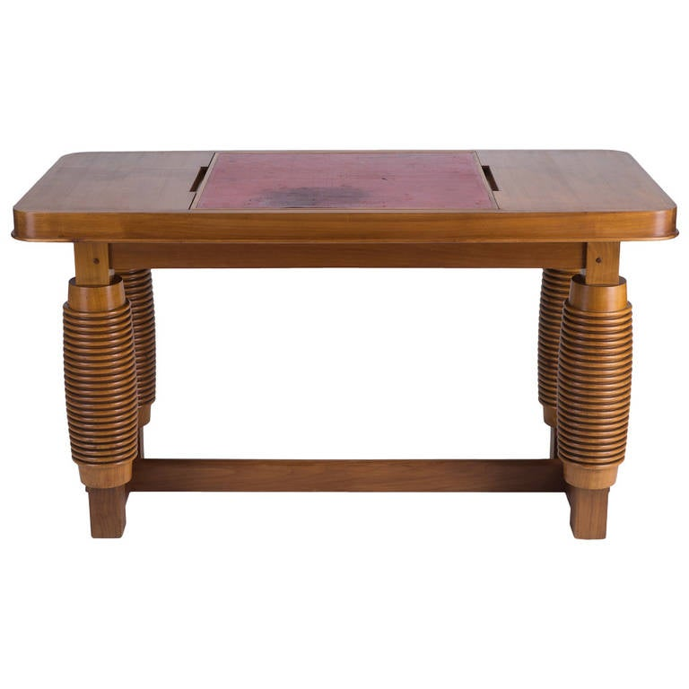 Cherrywood Desk / game table by Alfred Porteneuve
