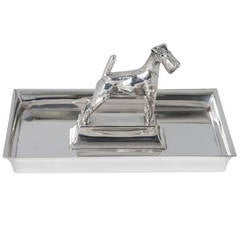 Silvered Metal Tray by Christofle