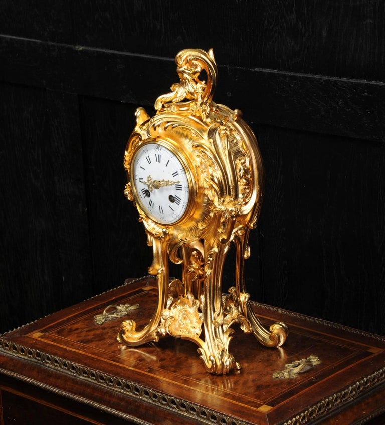 Superb Rococo Ormolu Clock with Visible Pendulum by Emile Colin, Paris For Sale 2