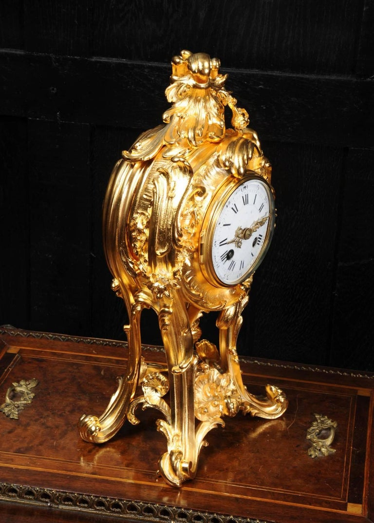 Superb Rococo Ormolu Clock with Visible Pendulum by Emile Colin, Paris For Sale 3