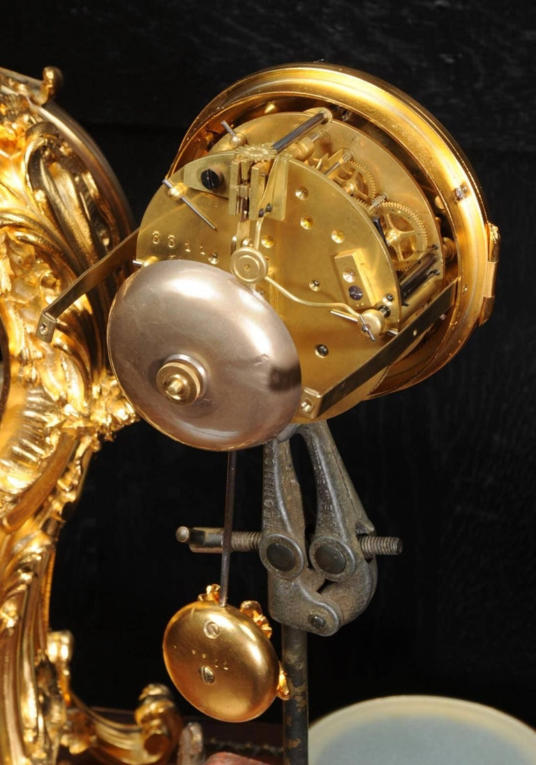 Superb Rococo Ormolu Clock with Visible Pendulum by Emile Colin, Paris For Sale 5