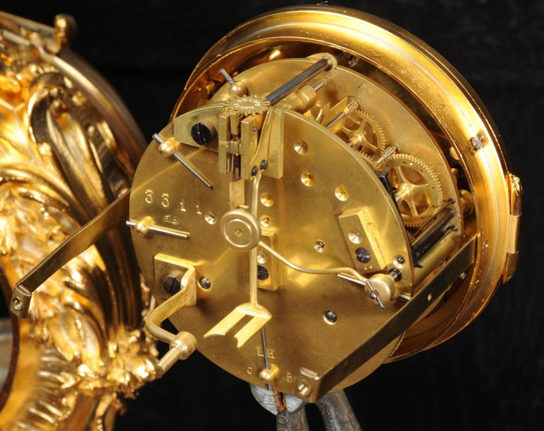Superb Rococo Ormolu Clock with Visible Pendulum by Emile Colin, Paris For Sale 7