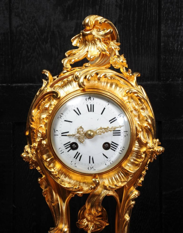 Superb Rococo Ormolu Clock with Visible Pendulum by Emile Colin, Paris For Sale 10