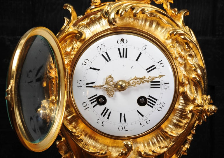 Superb Rococo Ormolu Clock with Visible Pendulum by Emile Colin, Paris For Sale 11