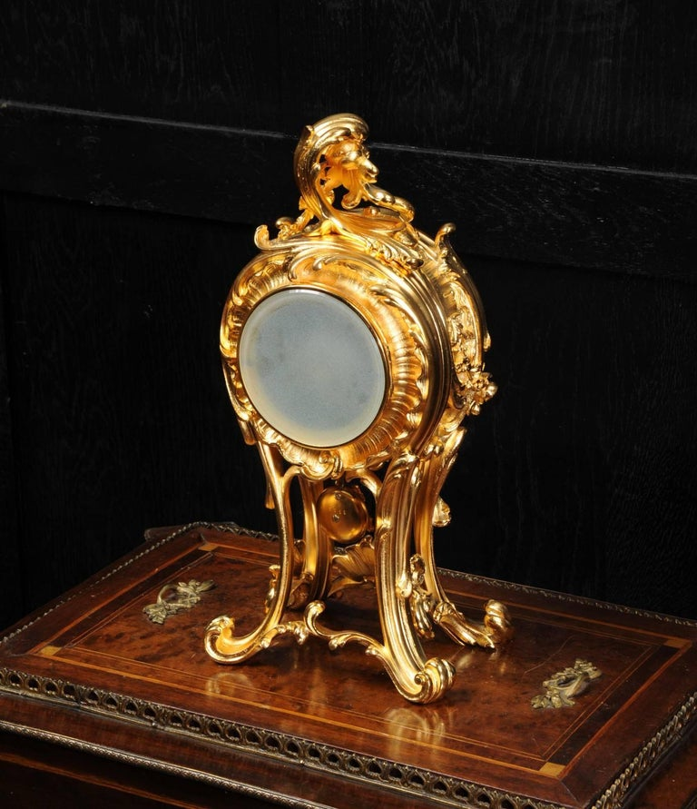 Superb Rococo Ormolu Clock with Visible Pendulum by Emile Colin, Paris For Sale 12