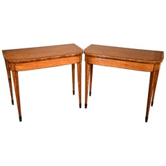 Fine Pair of Late 18th Century Satinwood Card Table