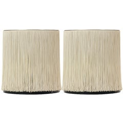Pair of Silk Strand Table Lamps