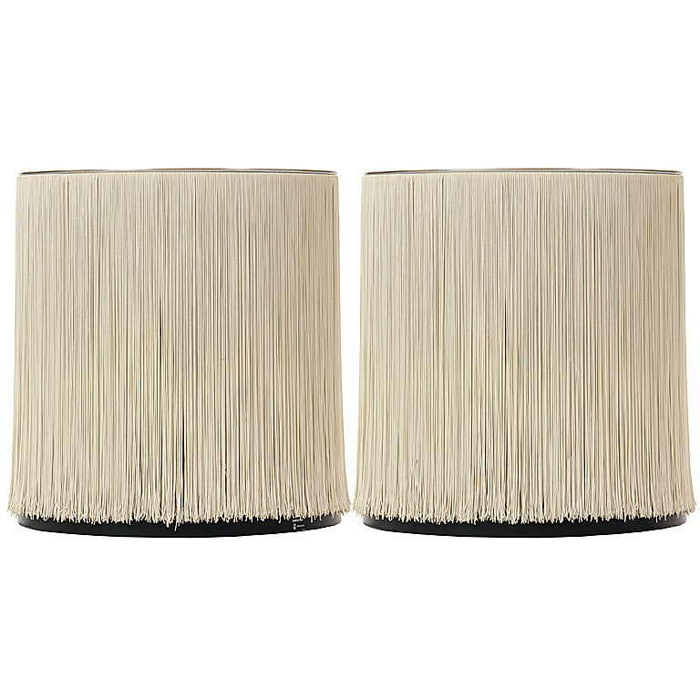 Pair of Silk Strand Table Lamps For Sale