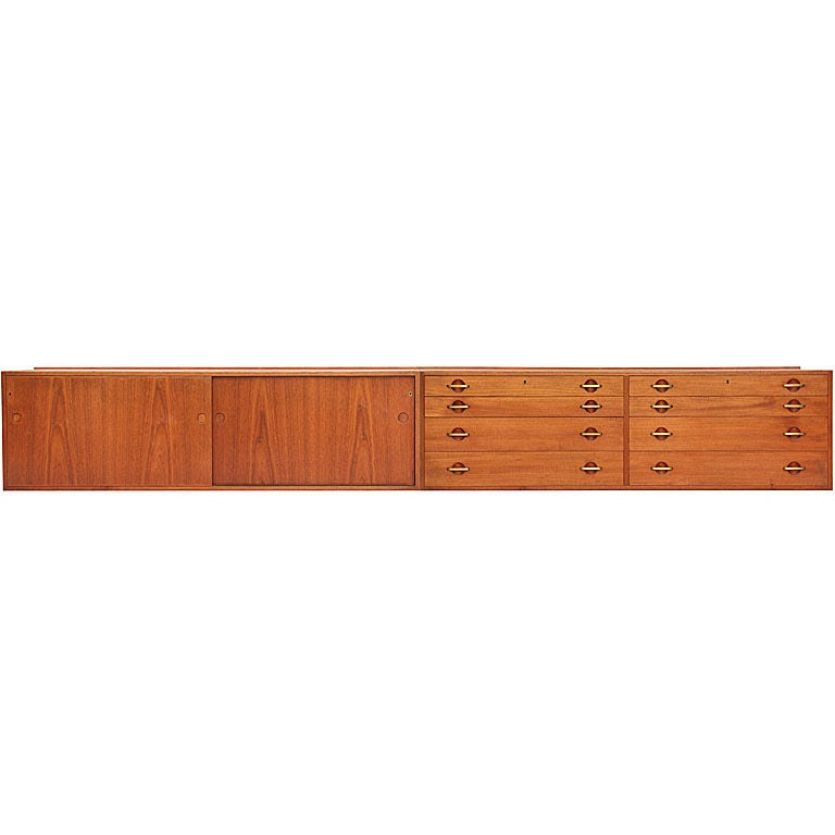 Wall Mount Cabinets by Hans Wegner For Sale